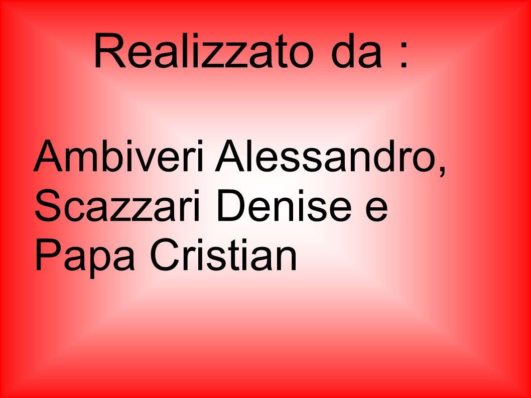 Realizzato da : Ambiveri Alessandro, Scazzari Denise e Papa Cristian