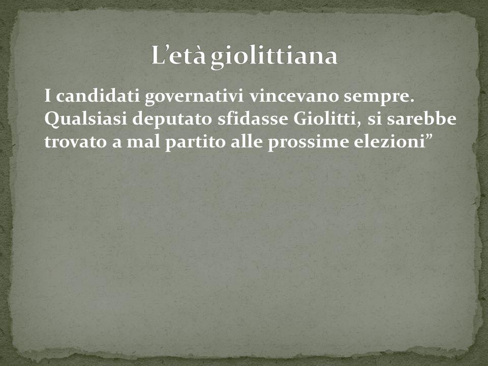 """I candidati governativi vincevano sempre. Qualsiasi deputato sfidasse Giolitti, si sarebbe trovato a mal partito alle prossime elezioni"""""""