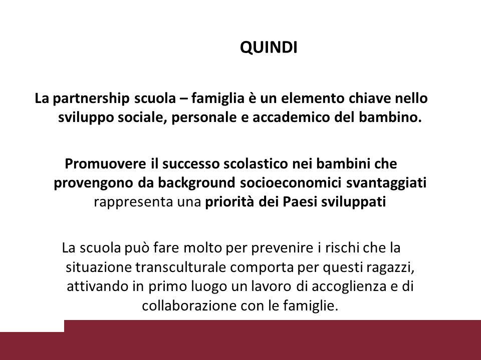 La partnership scuola – famiglia è un elemento chiave nello sviluppo sociale, personale e accademico del bambino.