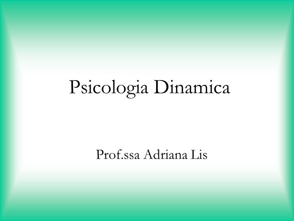 Psicologia Dinamica Prof.ssa Adriana Lis