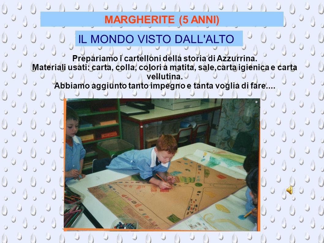 MARGHERITE (5 ANNI) IL MONDO VISTO DALL ALTO Prepariamo i cartelloni della storia di Azzurrina.