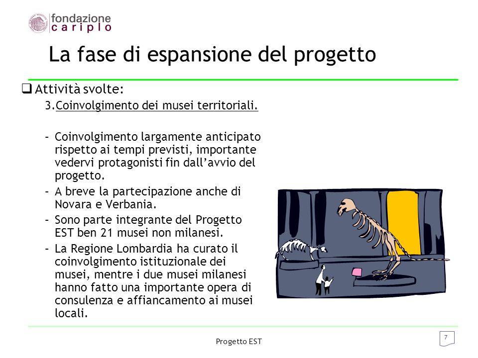 8 Progetto EST La sfida - la visione  Progetto EST  budget di 10 milioni di euro.
