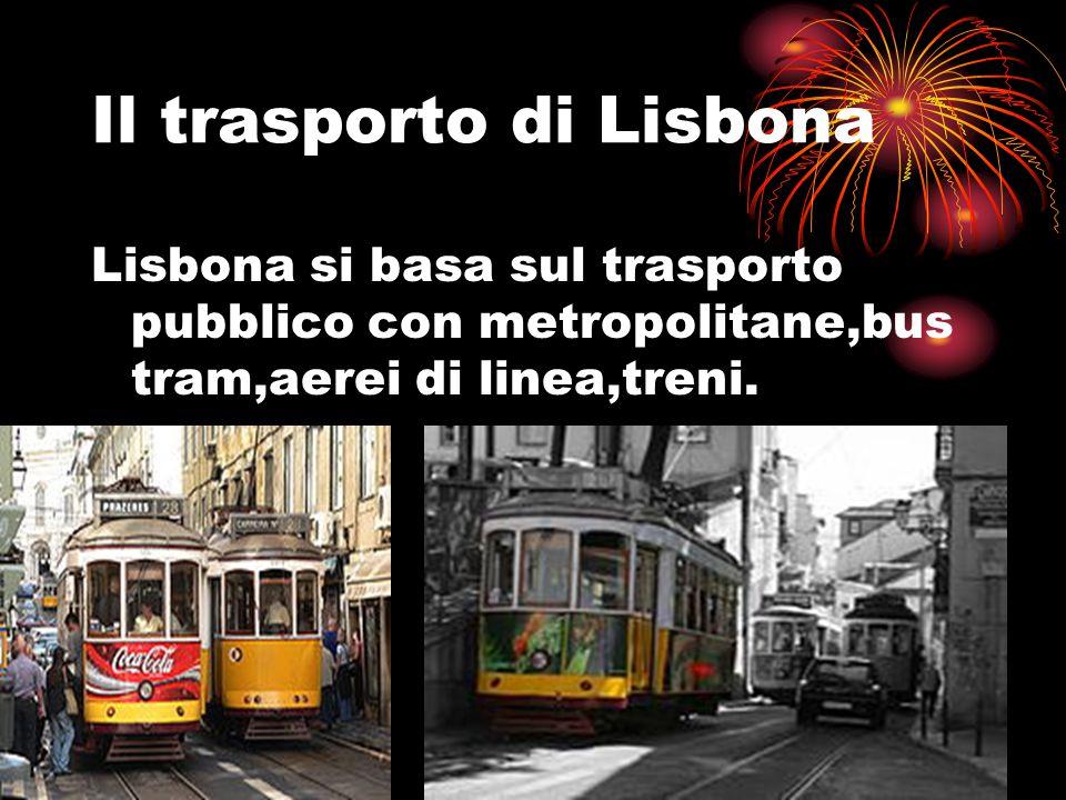 Il trasporto di Lisbona Lisbona si basa sul trasporto pubblico con metropolitane,bus tram,aerei di linea,treni.