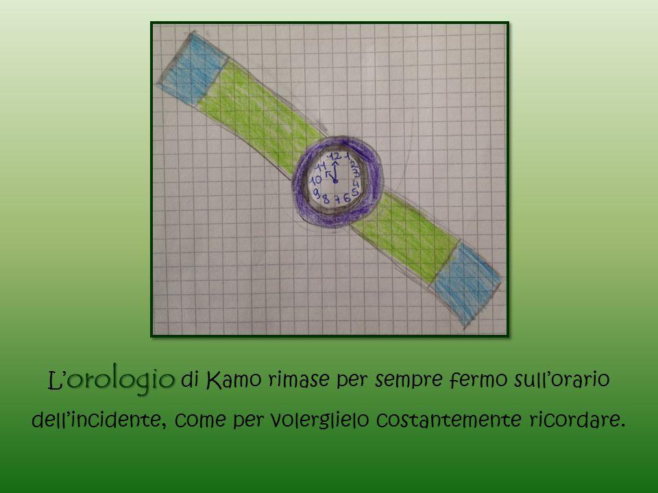 orologio L' orologio di Kamo rimase per sempre fermo sull'orario dell'incidente, come per volerglielo costantemente ricordare.