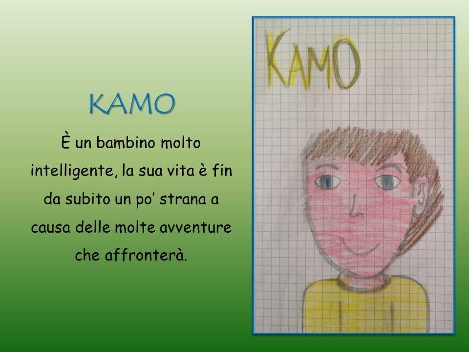 KAMO È un bambino molto intelligente, la sua vita è fin da subito un po' strana a causa delle molte avventure che affronterà.
