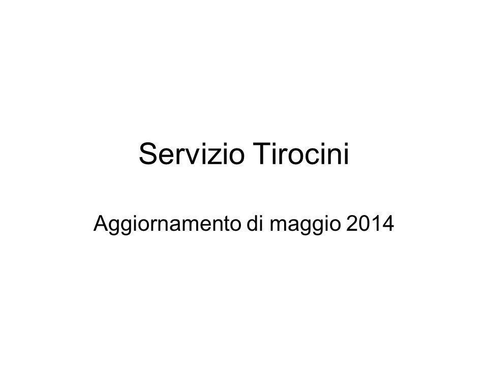 Servizio Tirocini Aggiornamento di maggio 2014