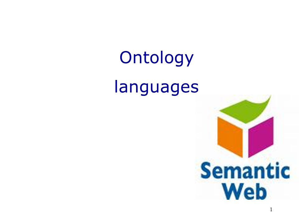 1 Ontology languages