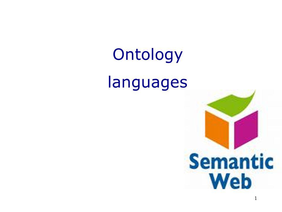 1 Ontology languages