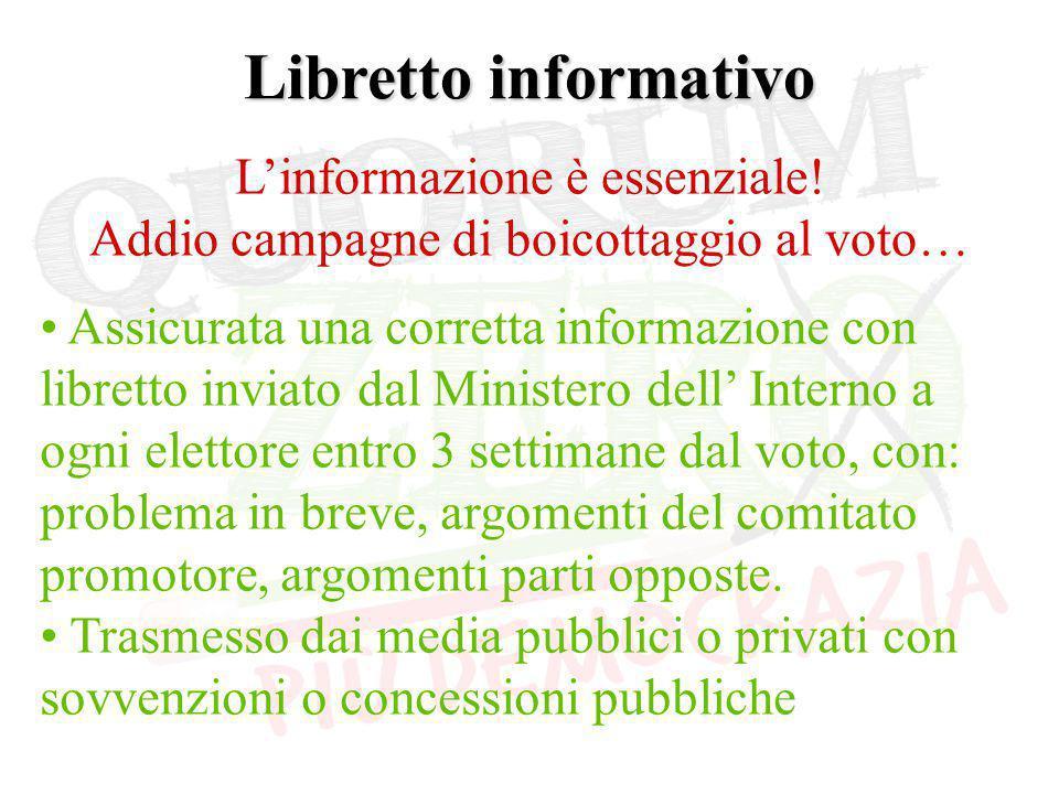 Libretto informativo L'informazione è essenziale.