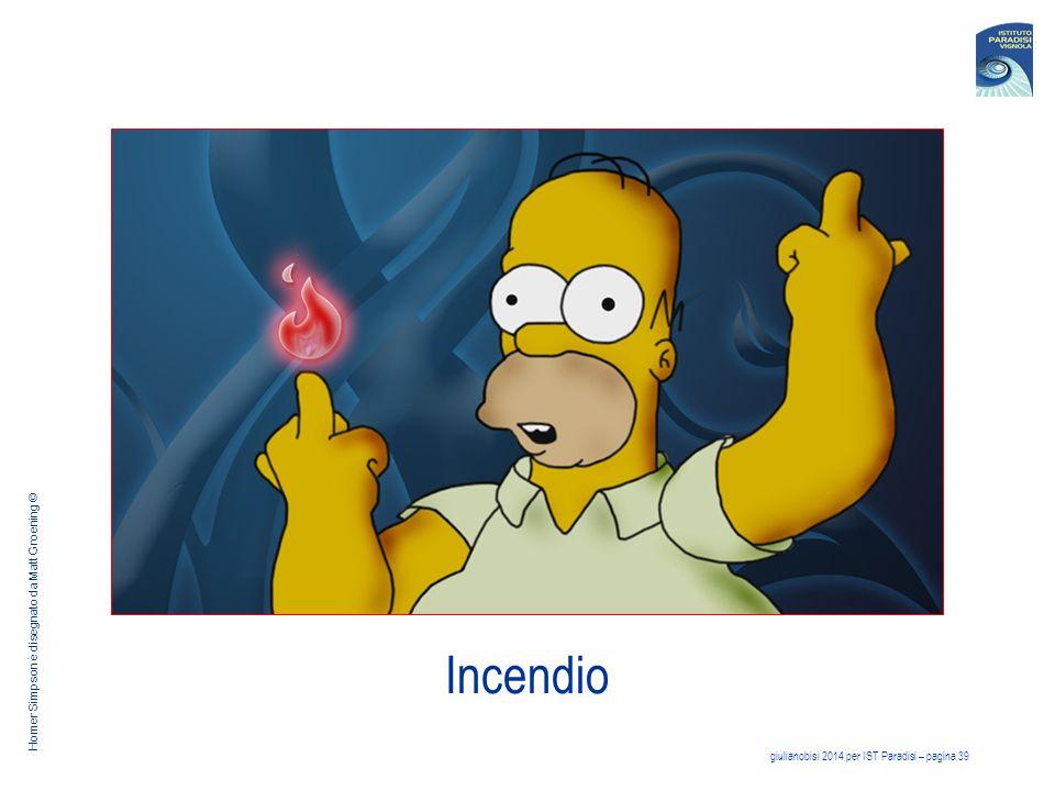 giulianobisi 2014 per IST Paradisi – pagina 39 Incendio Homer Simpson è disegnato da Matt Groening ©