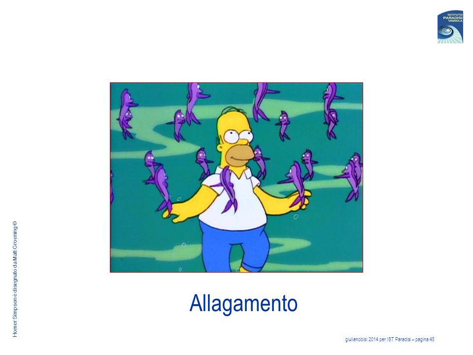 giulianobisi 2014 per IST Paradisi – pagina 45 Allagamento Homer Simpson è disegnato da Matt Groening ©