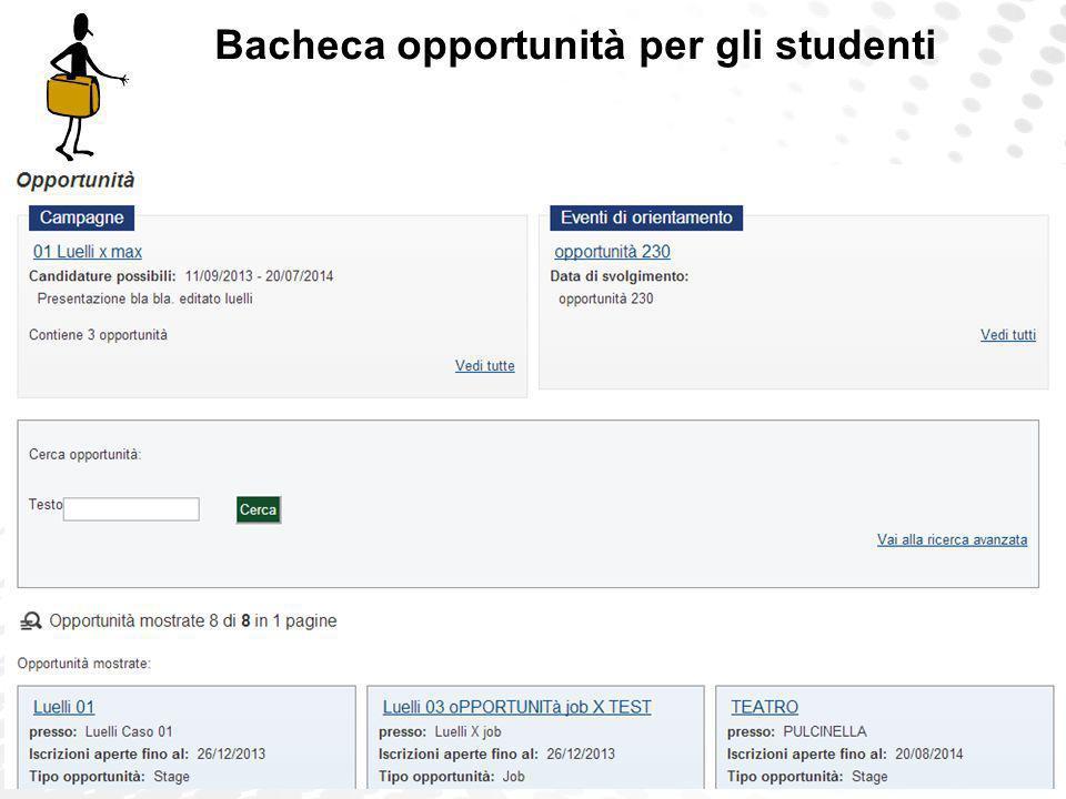 www.cineca.it Bacheca opportunità per gli studenti