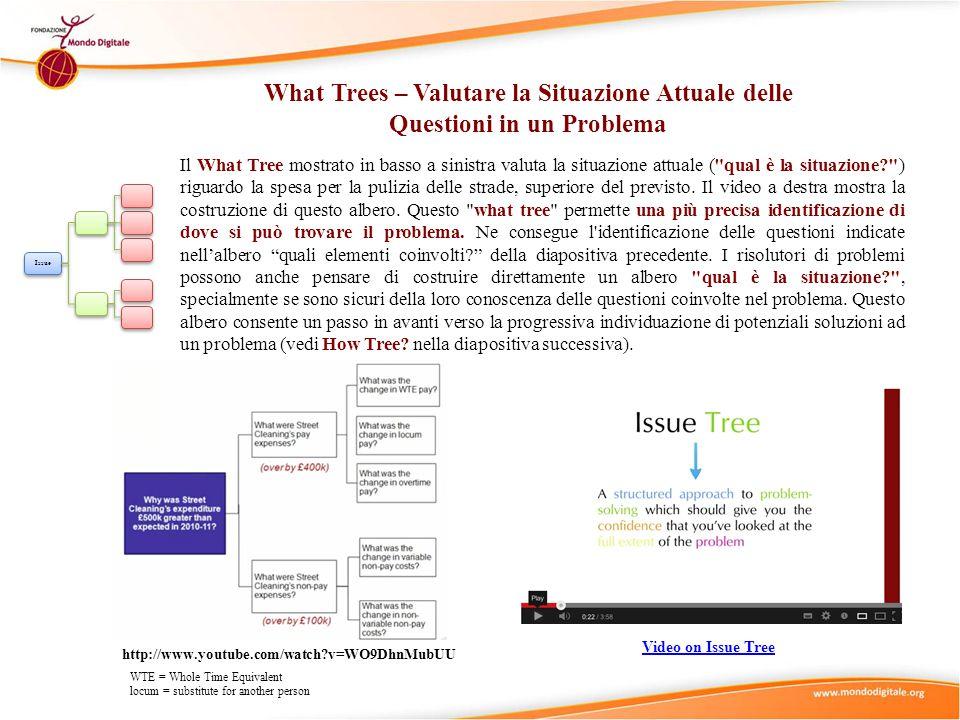 Il How Tree si occupa del come nel percorso verso la soluzione o le soluzioni potenziali.