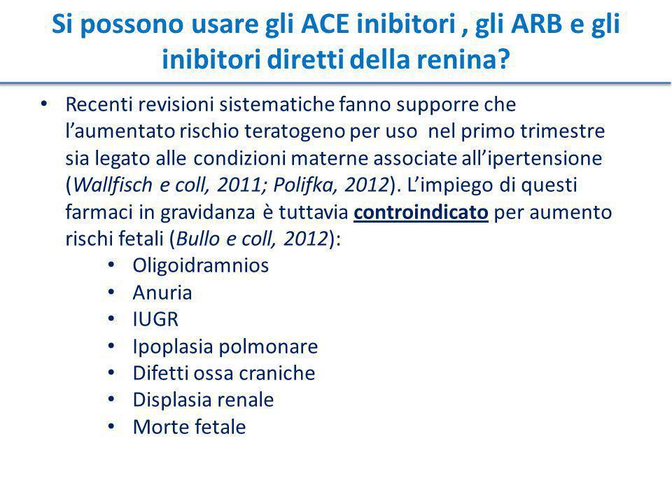 Si possono usare gli ACE inibitori, gli ARB e gli inibitori diretti della renina.