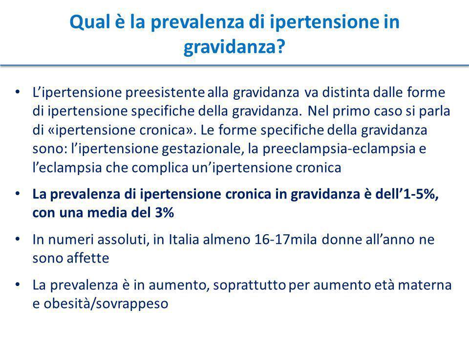 La cura delle donne con ipertensione cronica deve preferibilmente iniziare prima della gravidanza, allo scopo di ottimizzare il trattamento prima del concepimento e di dare alla donna le giuste informazioni sulle potenziali complicanze in gravidanza Esami da fare prima dell'inizio della gravidanza: ECG Glicemia Ematocrito Potassiemia Creatininemia Calcemia Profilo lipoproteico Esame urine Proteinuria 24 ore La presenza di manifestazioni d'organo secondarie all'ipertensione può peggiorare la prognosi in gravidanza (v.
