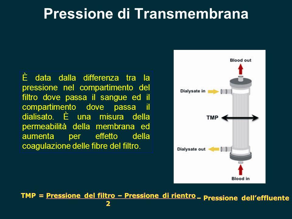 È data dalla differenza tra la pressione nel compartimento del filtro dove passa il sangue ed il compartimento dove passa il dialisato. È una misura d