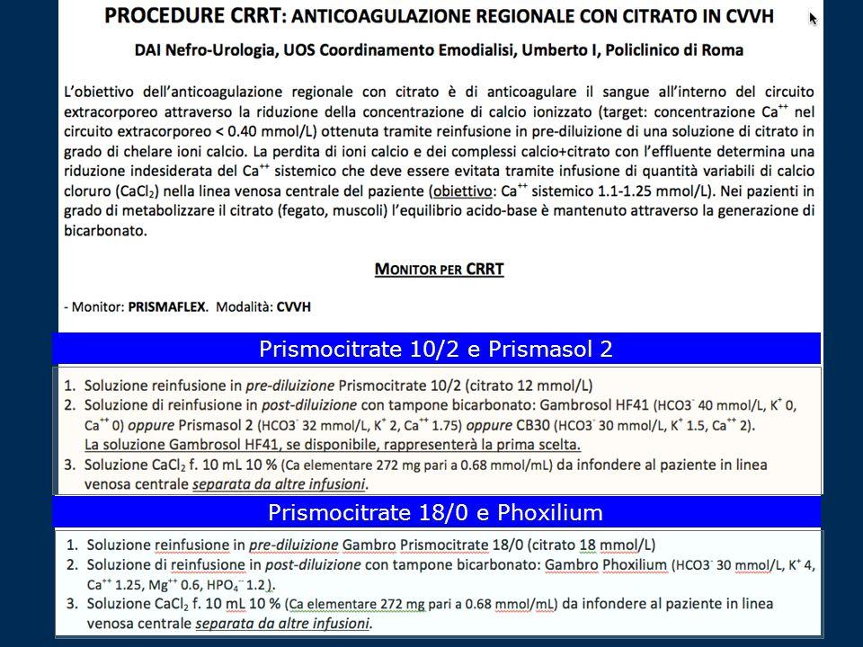 Prismocitrate 10/2 e Prismasol 2 Prismocitrate 18/0 e Phoxilium