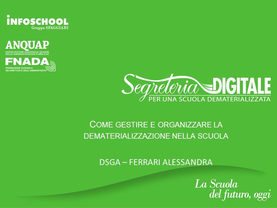 E' un progetto GruppoSpaggiari Parma Come gestire e organizzare la dematerializzazione nella scuola Quali sono gli strumenti e le risorse di cui si deve dotare una Istituzione Scolastica (AOO) per un sistema di gestione informatica dei documenti.