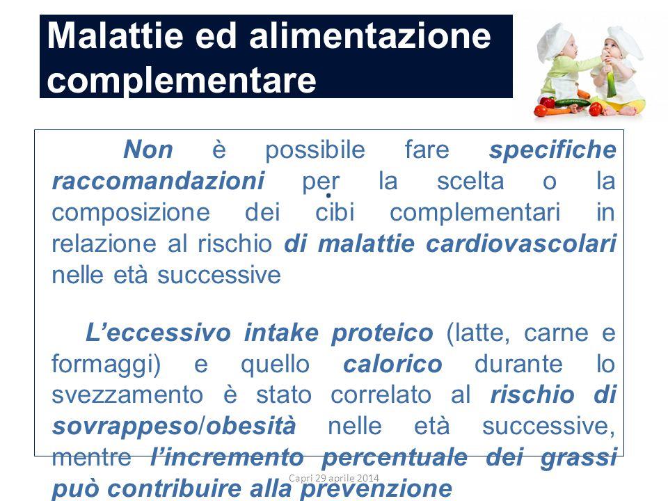 Malattie ed alimentazione complementare Capri 29 aprile 2014.