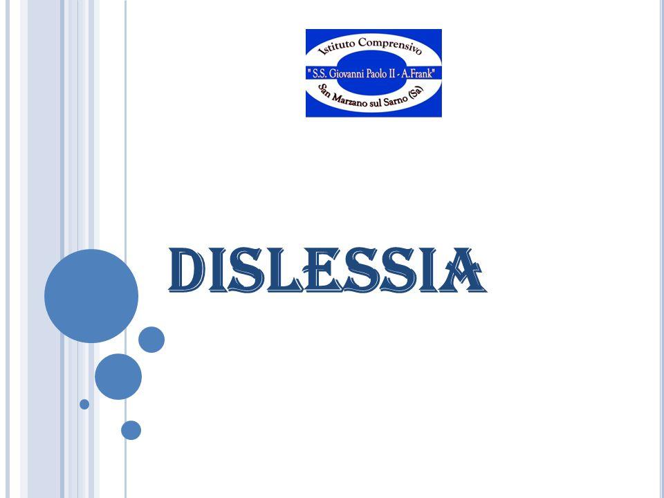La dislessia è un disturbo specifico dell'apprendimento che determina difficoltà nella decodifica grafema-fonema e nell'acquisizione degli automatismi che ne conseguono.