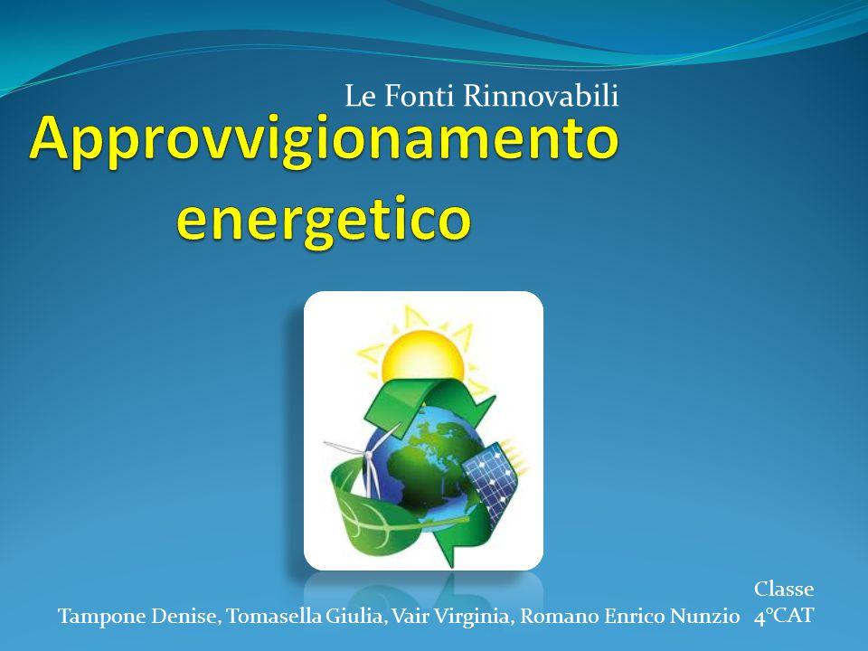 Le Fonti Rinnovabili Tampone Denise, Tomasella Giulia, Vair Virginia, Romano Enrico Nunzio Classe 4°CAT