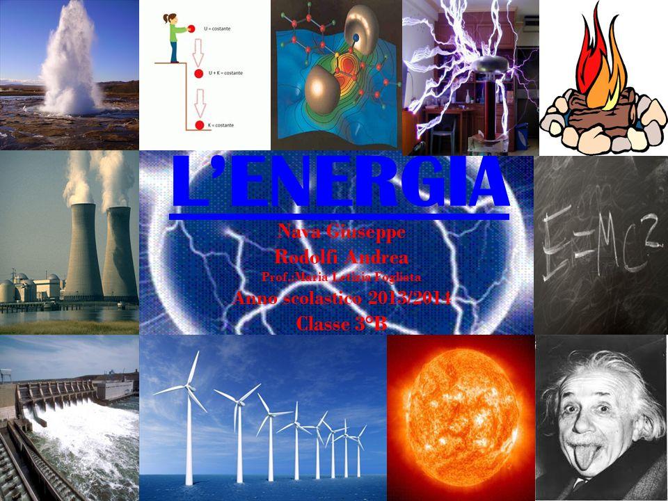 L'ENERGIA Nava Giuseppe Rodolfi Andrea Prof.:Maria Letizia Fogliata Anno scolastico 2013/2014 Classe 3°B