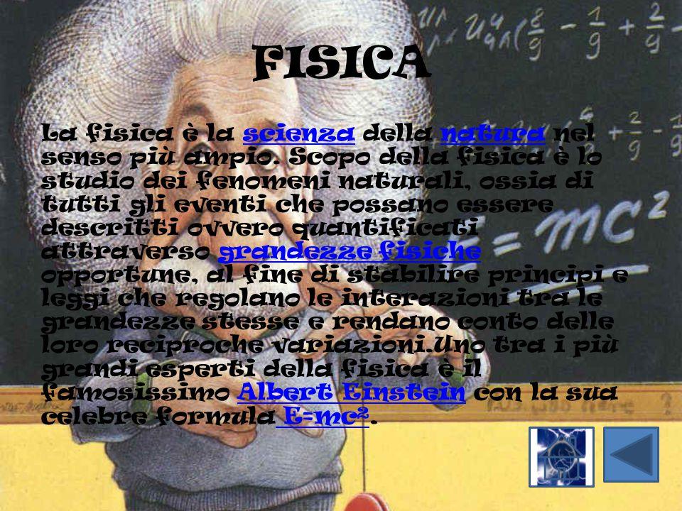 FISICA La fisica è la scienza della natura nel senso più ampio. Scopo della fisica è lo studio dei fenomeni naturali, ossia di tutti gli eventi che po