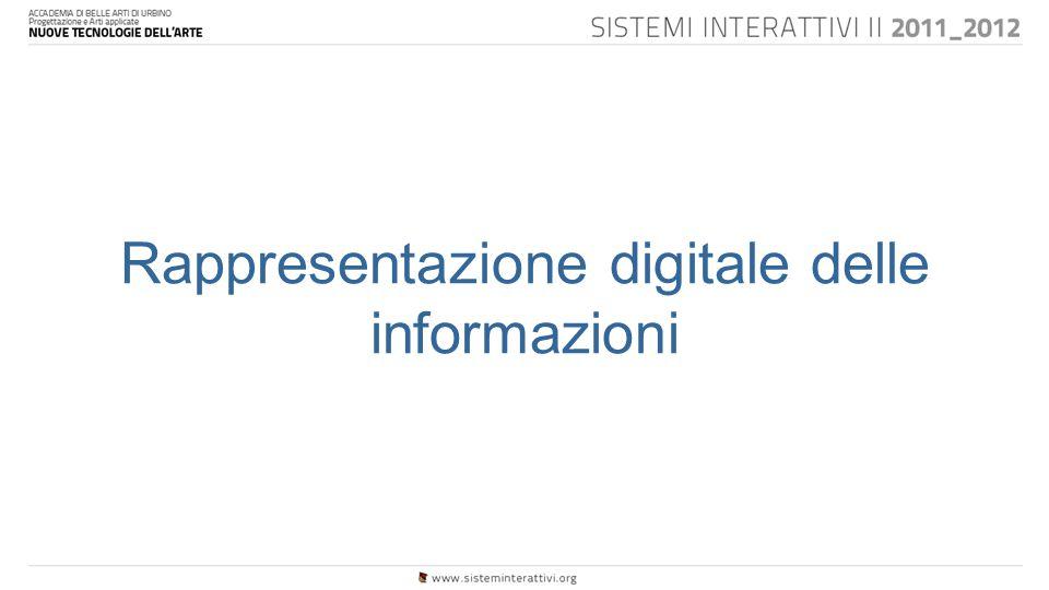 Rappresentazione digitale delle informazioni