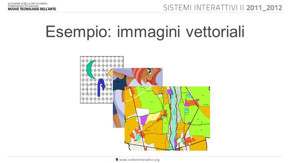 Esempio: immagini vettoriali
