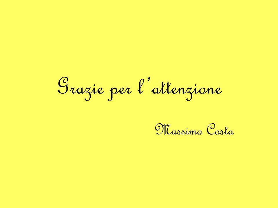Grazie per l'attenzione Massimo Costa