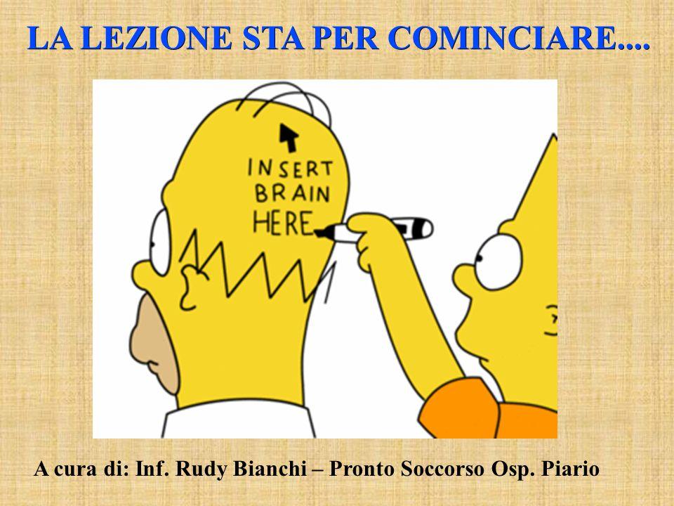 LA LEZIONE STA PER COMINCIARE.... A cura di: Inf. Rudy Bianchi – Pronto Soccorso Osp. Piario