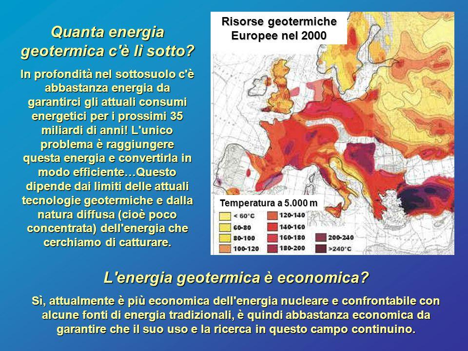 Quanta energia geotermica c'è lì sotto? In profondità nel sottosuolo c'è abbastanza energia da garantirci gli attuali consumi energetici per i prossim