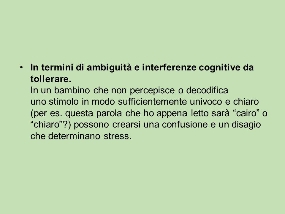 In termini di ambiguità e interferenze cognitive da tollerare.
