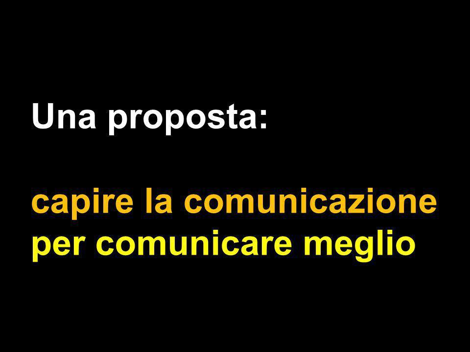 Una proposta: capire la comunicazione per comunicare meglio