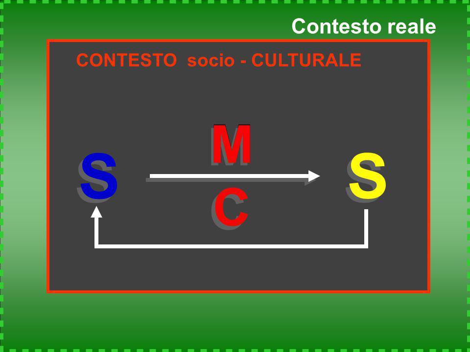 Contesto reale CONTESTO socio - CULTURALE S S M S S M C C M M