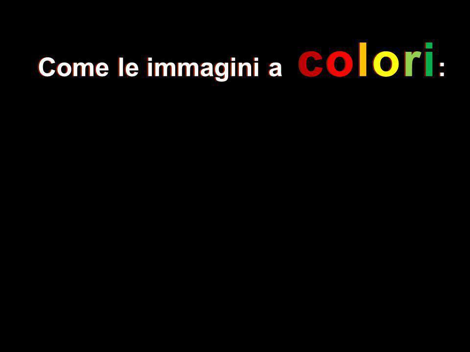 Come le immagini a colori :