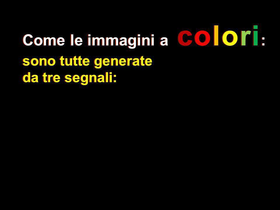 sono tutte generate da tre segnali: Come le immagini a colori : sono tutte generate da tre segnali:
