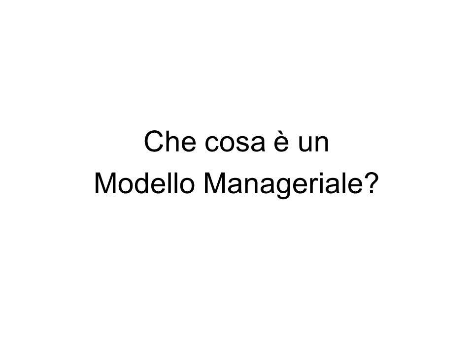 Che cosa è un Modello Manageriale?
