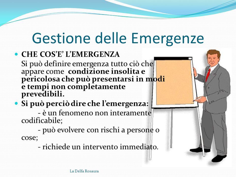 Gestione delle emergenze La Delfa Rosaura