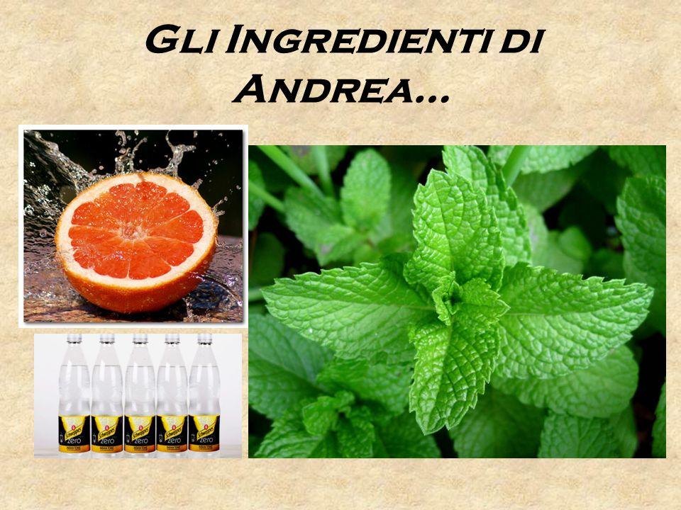 Gli Ingredienti di Andrea…