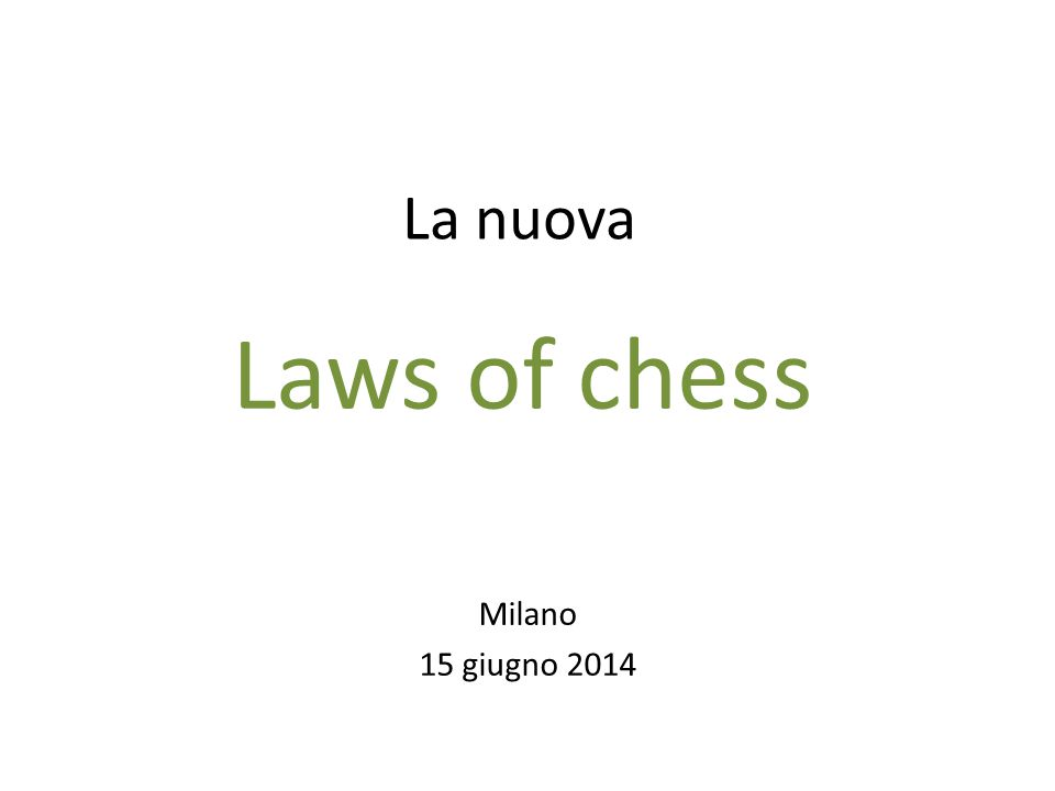 Laws of chess 2014 F.