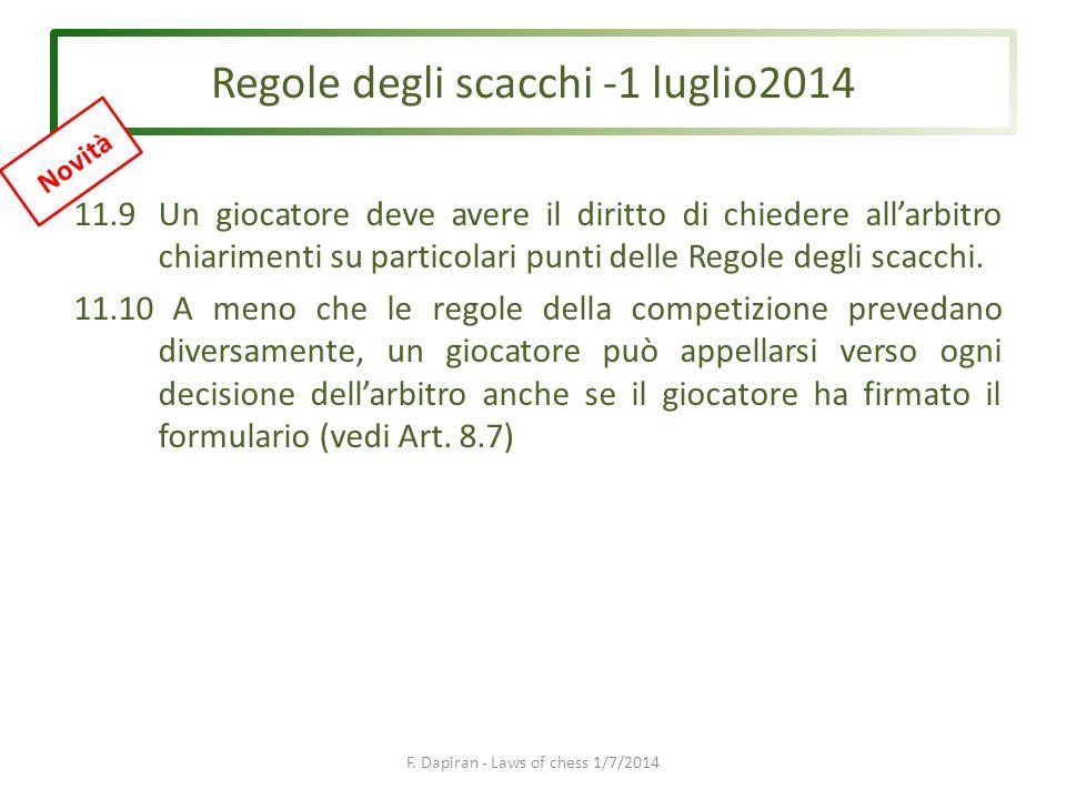Regole degli scacchi -1 luglio2014 F.