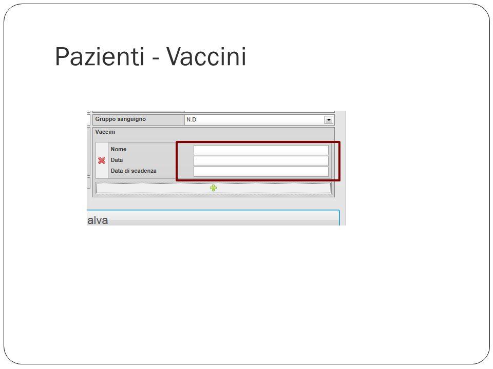 Pazienti - Vaccini