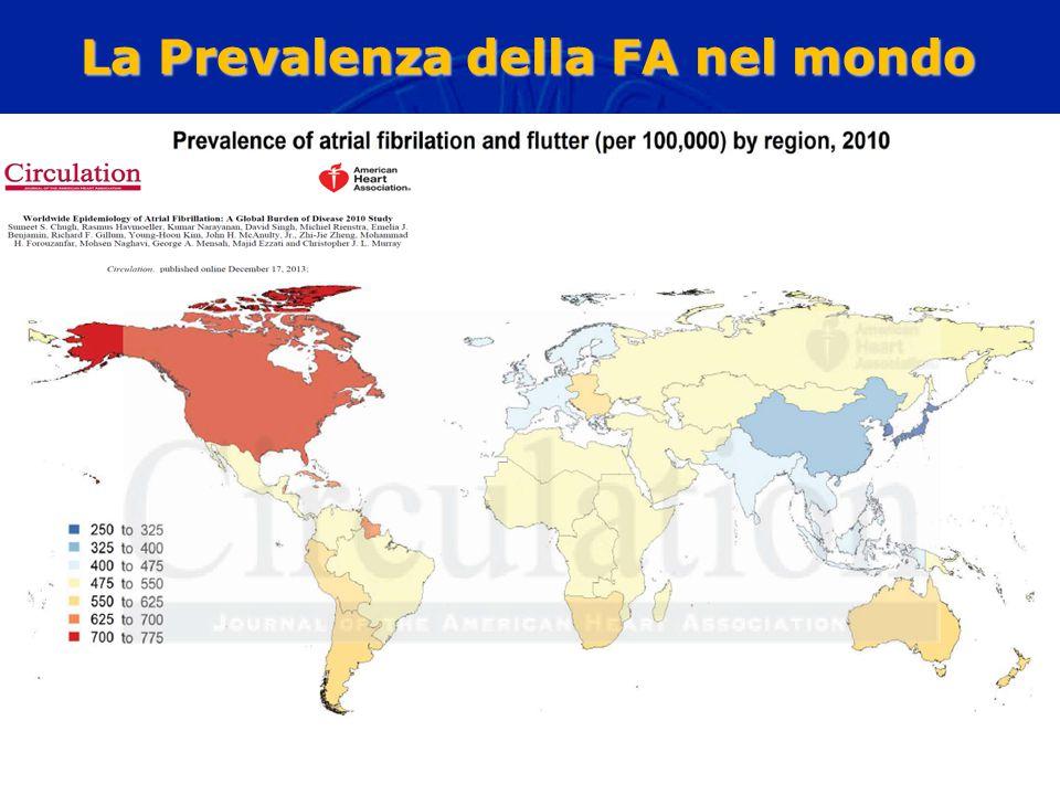 La Prevalenza della FA nel mondo