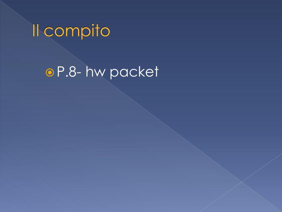  P.8- hw packet