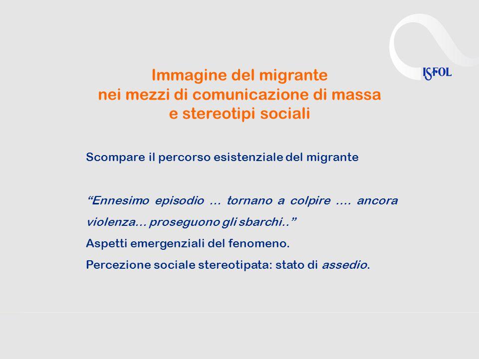 """Immagine del migrante nei mezzi di comunicazione di massa e stereotipi sociali Scompare il percorso esistenziale del migrante """"Ennesimo episodio … tor"""