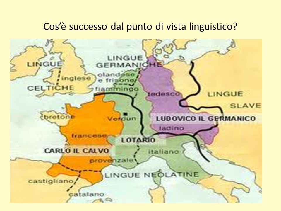 Cos'è successo dal punto di vista linguistico?