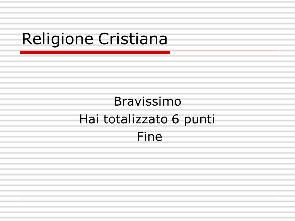 Religione Cristiana Hai sbagliato Ricomincia da capo Esci dal gioco