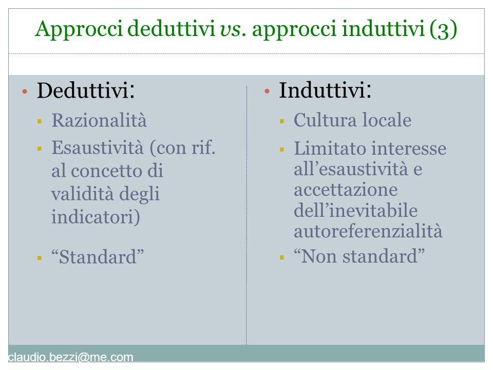 claudio.bezzi@me.com Deduttivi :  Razionalità  Esaustività (con rif.