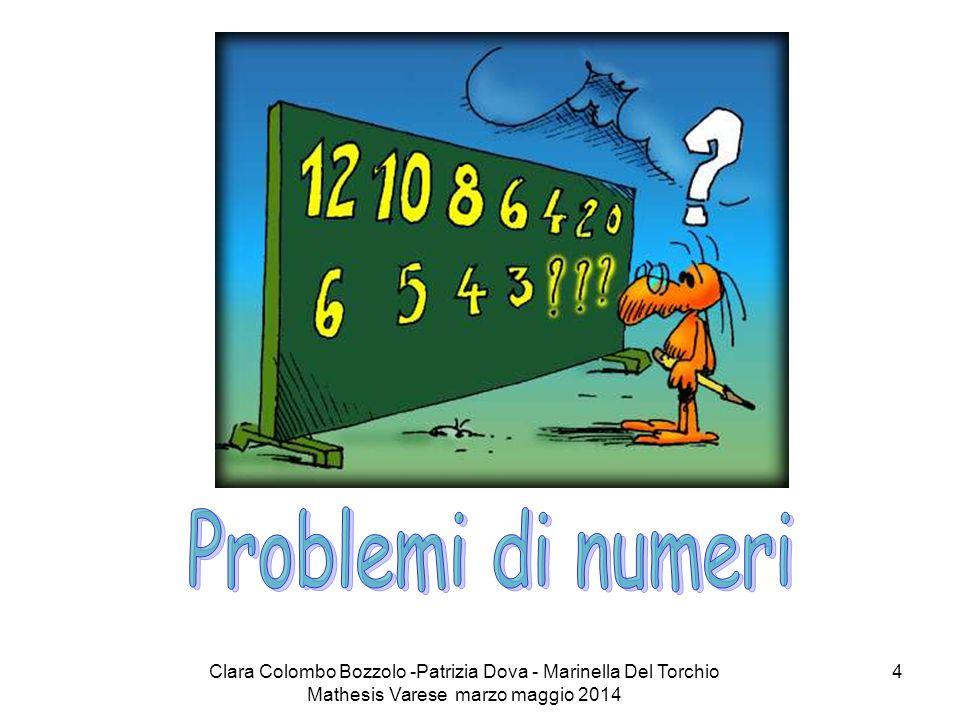 Clara Colombo Bozzolo -Patrizia Dova - Marinella Del Torchio Mathesis Varese marzo maggio 2014 35 Lo zero nella scuola (di Ennio Peres, RES 21, aprile 2001) CONSIGLI DIDATTICIMANEGGIARE CON CURA Rischio: ottenere dei risultati inattendibili.